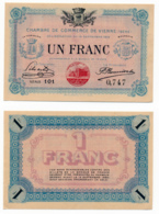 1914-1918 // C.D.C. // VIENNE // 14 Septembre 1915 // Un Franc // Sans Filigrane - Chamber Of Commerce
