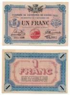 1914-1918 // C.D.C. // VIENNE // 11 Septembre 1916 // Un Franc // Sans Filigrane - Chambre De Commerce
