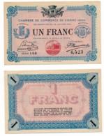 1914-1918 // C.D.C. // VIENNE // 18 Janvier 1916 // Un Franc // Sans Filigrane - Chambre De Commerce