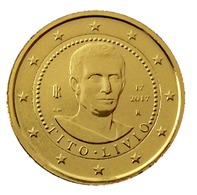 ITALIE 2017 - 2 EUROS COMMEMORATIVE - TITO LIVIO -  PLAQUE OR - Italie