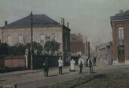Dampremy Rue De Charleroi Avec Attelage Ancienne Ferme Malissart Détruite En 1914 (Coin Inf. Droit Légèrement Plié) - Chapelle-lez-Herlaimont