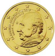 GRECE 2017 - 2 EUROS COMMEMORATIVE - KASANTZAKIS -  PLAQUE OR - Grèce