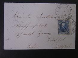 LUXEMBOURG KLEINFORMATIGER BRIEF EF 25 CENT ESCH-SUR-ALZET 1905 NACH DEUTSCHLAND - 1891 Adolphe Front Side