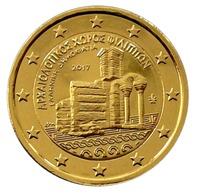 GRECE 2017 - 2 EUROS COMMEMORATIVE - SITE ARCHEOLOGIQUE FILIPOS -  PLAQUE OR - Grèce