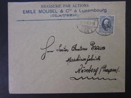 LUXEMBOURG (CLAUSEN) BRIEF EF 12;5 CENT 1908 NACH DEUTSCHLAND - 1891 Adolphe Front Side