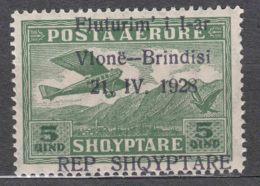 Albania 1928 Airmail Mi#162 Mint Never Hinged, Error Shifted Overprint - Albania