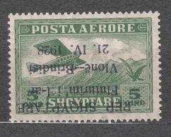 Albania 1928 Airmail Mi#162 Mint Never Hinged, Error - Inverted Overprint, Expert Mark - Albania