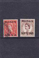 Bahrain Oblitéré  1952-57   N° 77 Et 96    Timbre De Grande Bretagne (Elisabeth II) Surchargé - Bahrain (1965-...)