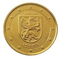 LETTONIE 2017 - 2 EUROS COMMEMORATIVE - LATGALE -  PLAQUE OR - Lettonie