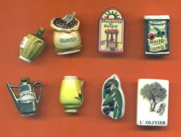 Serie Complète De 8 Feves De L'huile Et D'olive 2006 - Regions