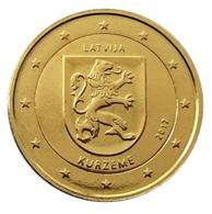 LETTONIE 2017 - 2 EUROS COMMEMORATIVE - KURZEME -  PLAQUE OR - Lettonie
