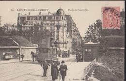 CPA:Levallois-Perret:Porte De Courcelles - Levallois Perret
