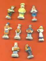 Serie Complète De 9 Feves Les Metiers Thiriet - Characters