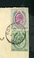 MALTE (GB) : - EDOUARD VII - N° Yvert 26 + 28 Obli. SUR LETTRE DE COSPICUA DE 1910  POUR DIJON (FRANCE) - Malte (...-1964)
