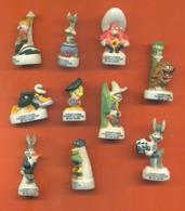 Serie Complète De 10 Feves Mat Looney Tunes Passent à L'action 2004 - Cartoons