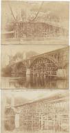 19 BEAULIEU LE PONT SUSPENDU REFECTION 1924 3 CARTES PHOTOS - Ohne Zuordnung