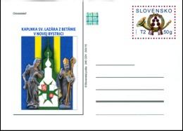 CDV 246 Slovakia Post Horn St Lazar Chapel 2015 Statue Coat Of Arms - Christianity