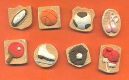 Serie Complète De 8 Feves Mat Les Articles De Sports - Sport