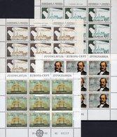 CEPT 1982 Jugoslawien 1857/8+1919/0 Kleinbogen ** 27€ Segelschiff History 1980 KSZE Ss Sheetlet Ship Bf JUGOSLAVIJA - Europa-CEPT