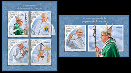 GUINEA 2018 - Pope Francis. M/S + S/S. Official Issue - Popes
