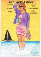 CALVADOS - SAINT-AUBIN Sur MER - 4e Salon 1988 - Illustrateur Jean-Claude SIZLER - Collector Fairs & Bourses
