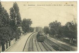 92 - ASNIERES / AVENUE DE LA LAUZIERE ET RUE DU BOIS - VOIES DU CHEMIN DE FER - Asnieres Sur Seine