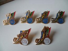 LOT DE 6  PIN'S  SPORT D'HIVER   OLYMPICA 1992 - Postes