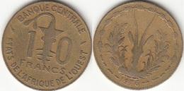 Repubblica Centro Africana 10 CAF Francs 1976 KM#1a - Used - Africa Orientale E Protettorato D'Uganda