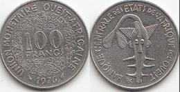 Repubblica Centro Africana 100 CAF Francs 1976 KM#4 - Used - Africa Orientale E Protettorato D'Uganda