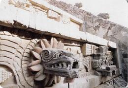 Mexique - Templo De Quetzalcoatl - Mexico - 1 Timbre Philatélique Au Verso - Voir Scan - Cpm - écrite - - Mexico