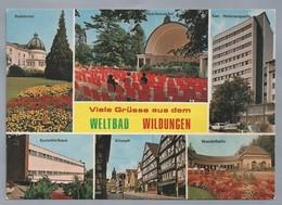 DE.- WILDUNGEN. VIELE GRUSSE AUS DEM WELTBAD WILDUNGEN. Badehotel. Musikmuschel. San. Helenenquelle. Kurmittelhaus. - Gruss Aus.../ Gruesse Aus...