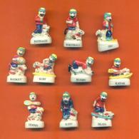Serie Complète De 10 Feves Tom Et Pilou Au Sport - Sport