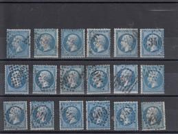 LOT De 18 Timbres Y&T 22 Oblitérés - 1853-1860 Napoléon III