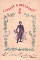 MENU De La Subdivision Des SAPEURS POMPIERS De TROUVILLE à La CHAUMIÈRE NORMANDE 1905 - Menus