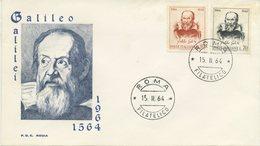 ITALIA - FDC RODIA 1964 - GALILEO GALILEI - ASTRONOMIA - ANNULLO ROMA - 6. 1946-.. Repubblica