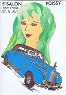 YVELINES - 5e Salon POISSY 1987 - Illustrateur Jean-Claude SIZLER - Collector Fairs & Bourses