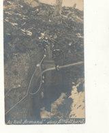 MILITARIA ))  CARTE PHOTO    Au Vieil Armand   Abris St Gotthard - Militaria