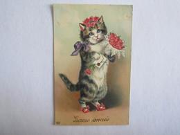 Bonne Année Chat - Animali Abbigliati