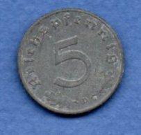 Allemagne -  5 Reichspfennig  1941 D-  Km #  100-    état  TTB  -- - [ 4] 1933-1945 : Troisième Reich