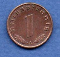 Allemagne -  1 Reichspfennig  1939 A-  Km #  89-    état  TTB  -- - [ 4] 1933-1945 : Troisième Reich