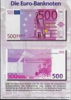 BANCONOTA DA EURO 500 - CARTOLINA EDIZIONE TEDESCA - NUOVA - Monete (rappresentazioni)