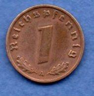 Allemagne -  1 Reichspfennig  1938 A-  Km #  89-    état  TTB +  -- - [ 4] 1933-1945 : Third Reich