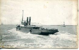 "N°66345 -cpa Le Havre -remorqueur Le ""Titan"" - Remorqueurs"