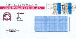 Portugal Cover Sent To Denmark 1995 - Cartas