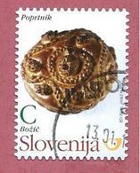 SLOVENIA USATO - 2011 - NATALE - Poprtnik (Christmas Bread) - C - M. SI 922 - Slovenia