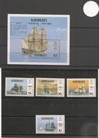 KIRIBATI Voiliers Années 1989/90 N°Y/T : 191/94** Et Bloc 13** Côte : 21,50 € - Kiribati (1979-...)