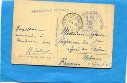 GUERRE 14-18- Marcophilie- Carte Postale -italie-cad 3-4-8+cachet Commission Med  Fse Inft-médecin Chef -gare De ROME - Marcofilie (Brieven)