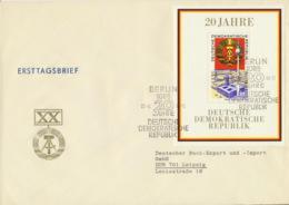 DDR Block 28 Auf Großformatigem FDC - DDR