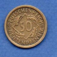 Allemagne -  50 Rentenpfennig  1924 J-  Km #  34-    état  TTB  -- - [ 3] 1918-1933 : Republique De Weimar
