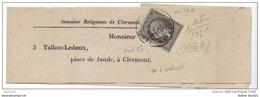019. Bande De Journal (Complète) N°19 Cachet à Date CLERMONT FERRAND - 1869 - 1849-1876: Classic Period